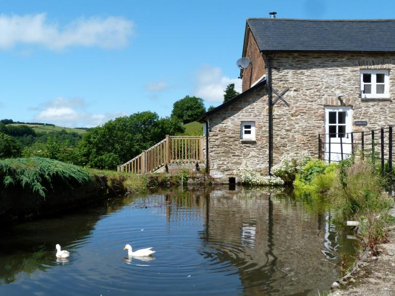 Enjoy watching the ducks at work from your private decking