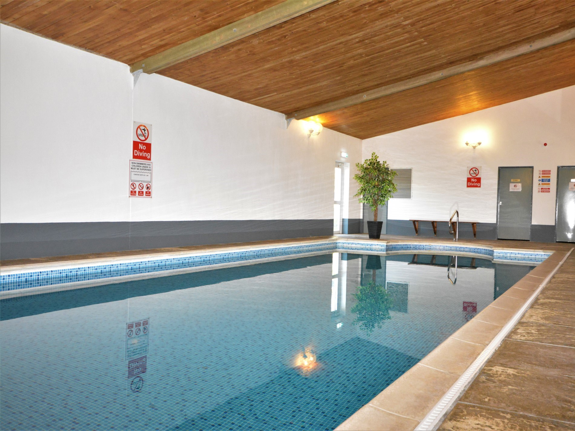 Guests have use of shared indoor heated swimming pool