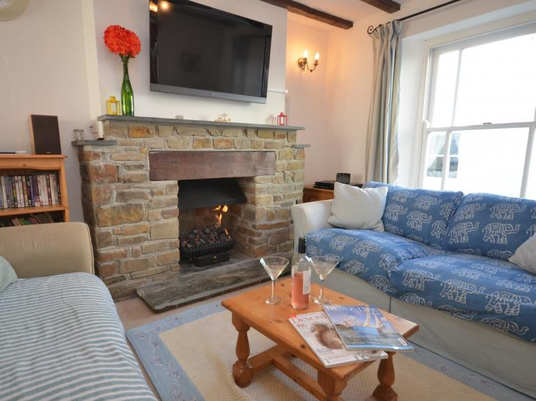 Cosy up by the gas fire