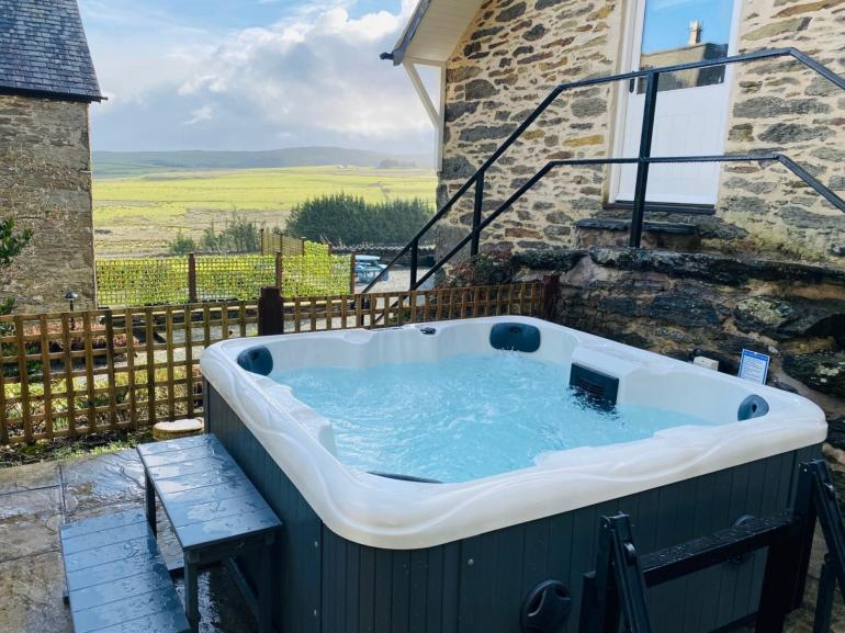 Enjoy the views in the hot tub