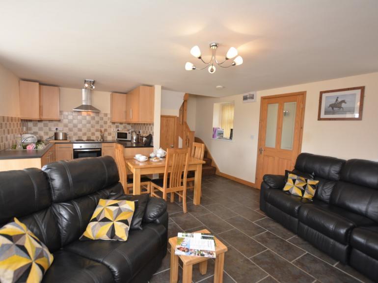 Spacious open-plan lounge/kitchen/dining