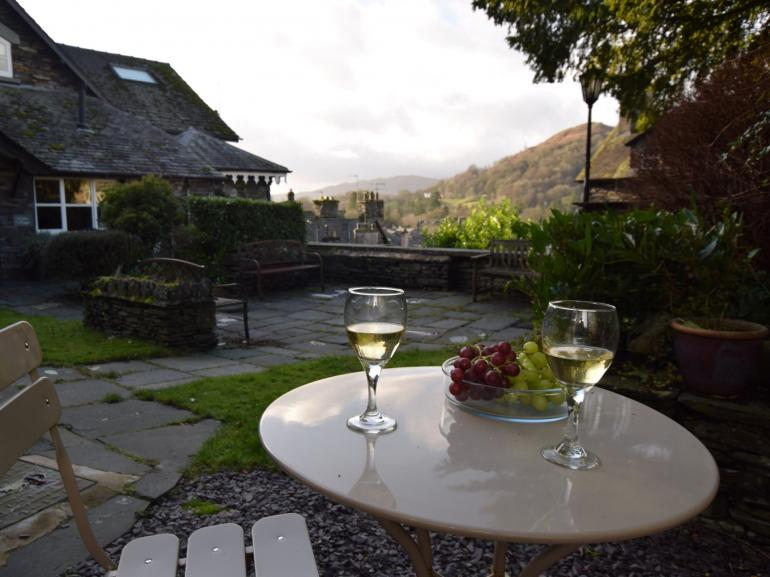 Relax and enjoy the views outside the cottage