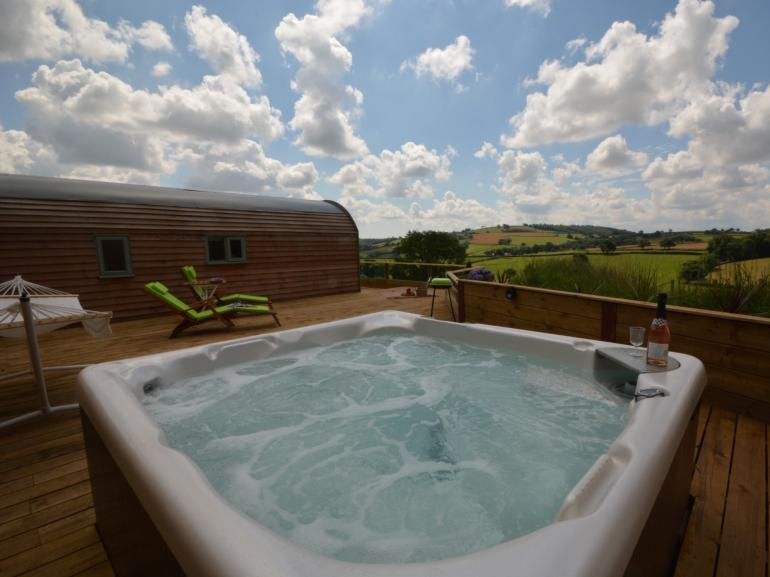 Fabulous views from the bubbling tub
