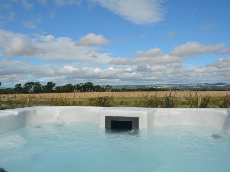 Relax and enjoy the private hot tub