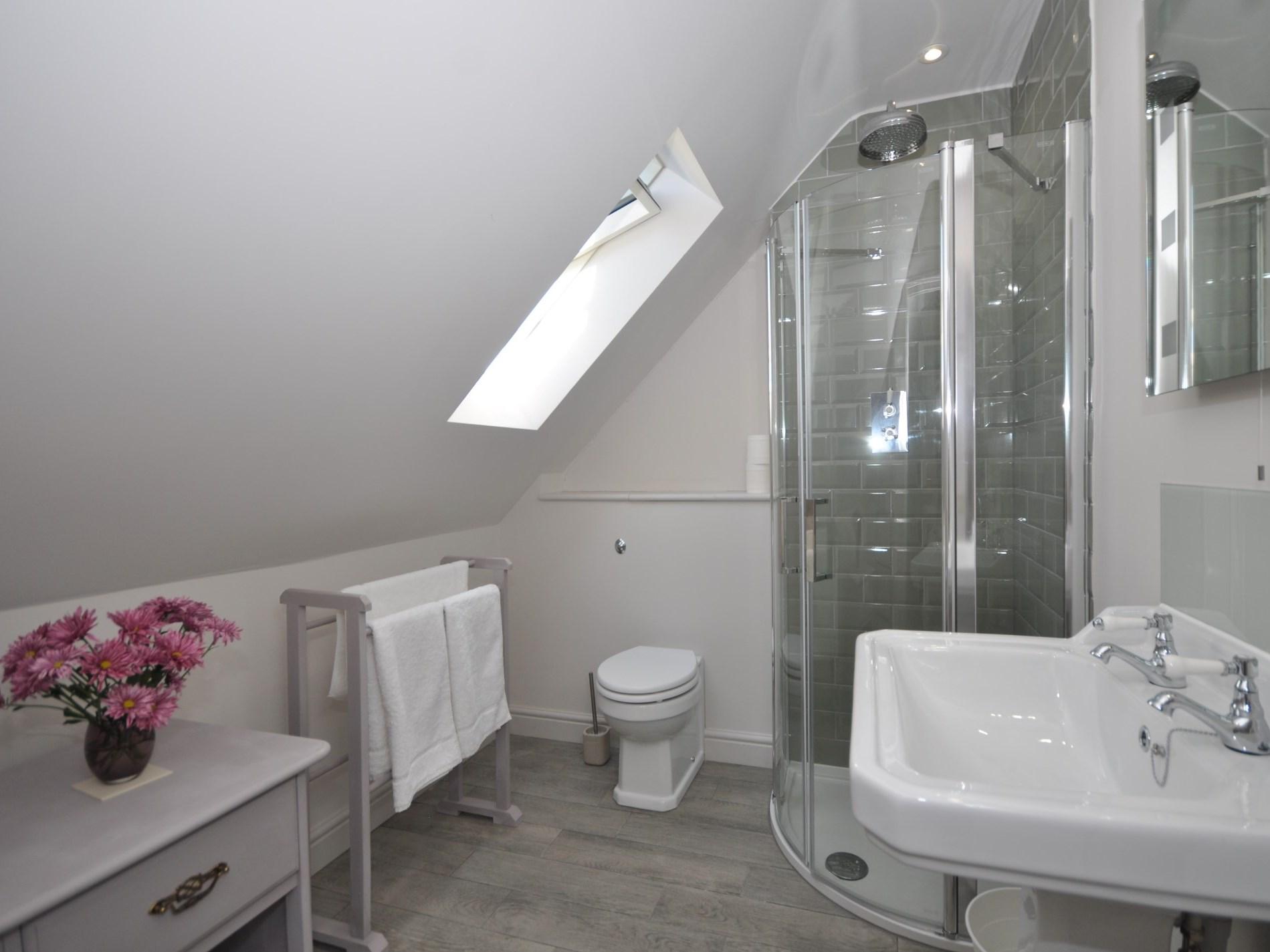 The en-suite shower room