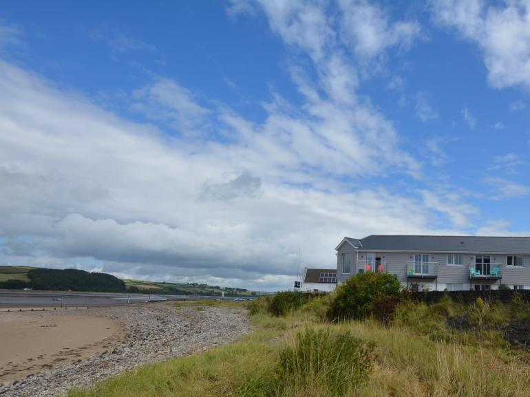 View towards the property, right on the foreshore