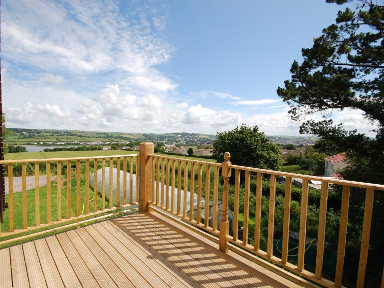Stunning views from the decked balcony