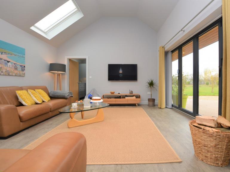 Stunning open-plan living with bi-folding doors