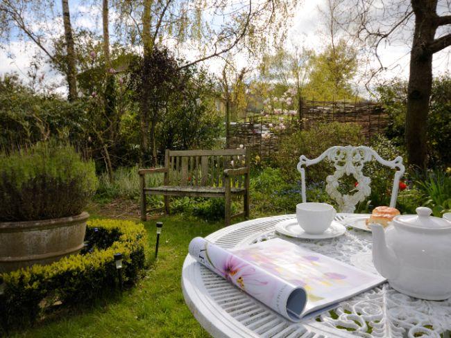Afternoon tea in the pretty garden