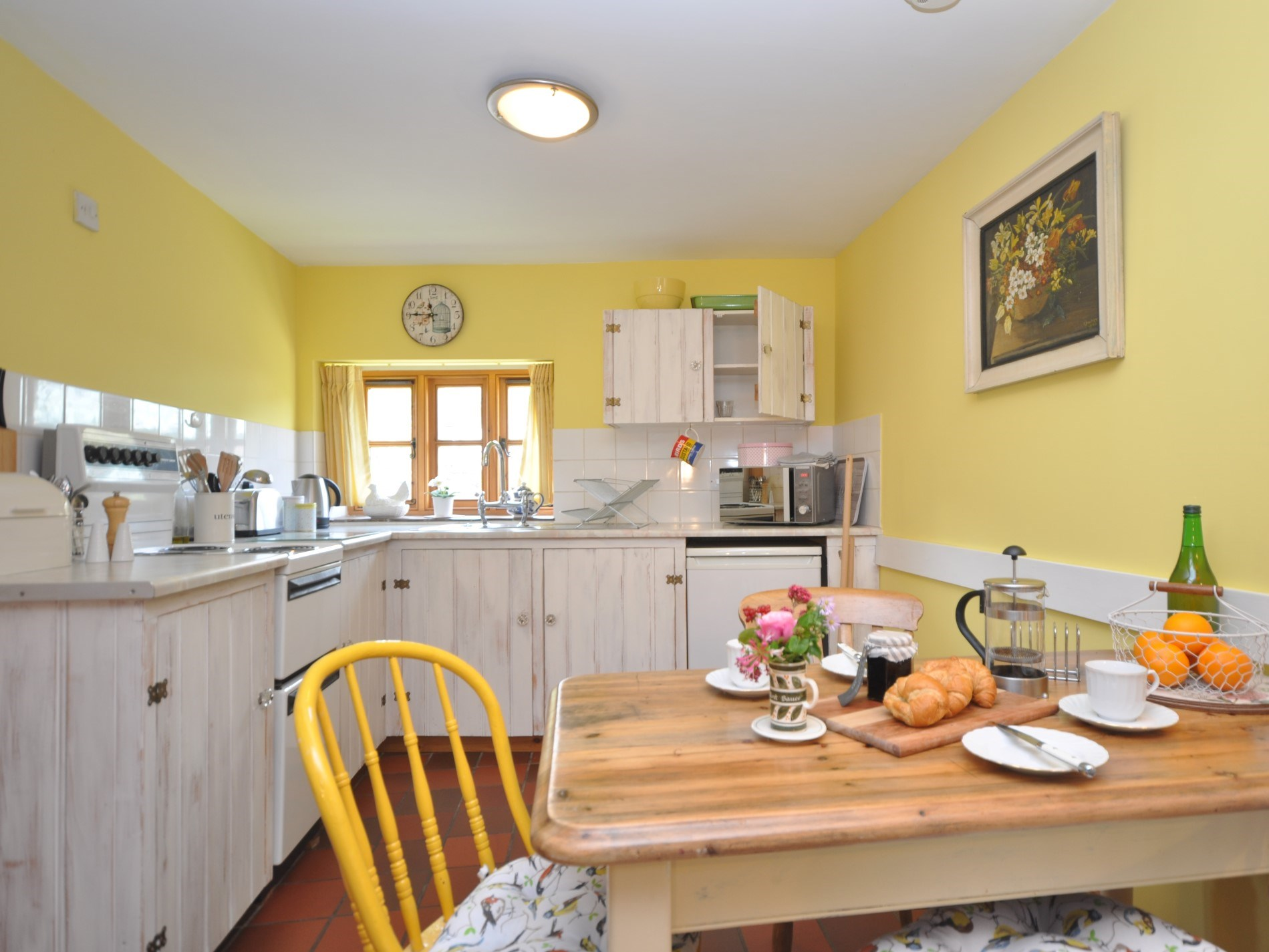 A traditional kitchen just perfect for a simple supper for two