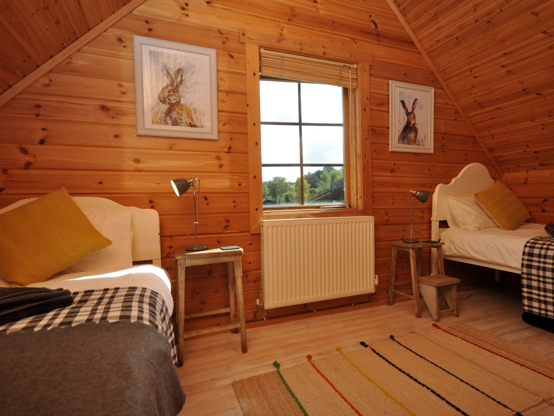 A spacious twin room