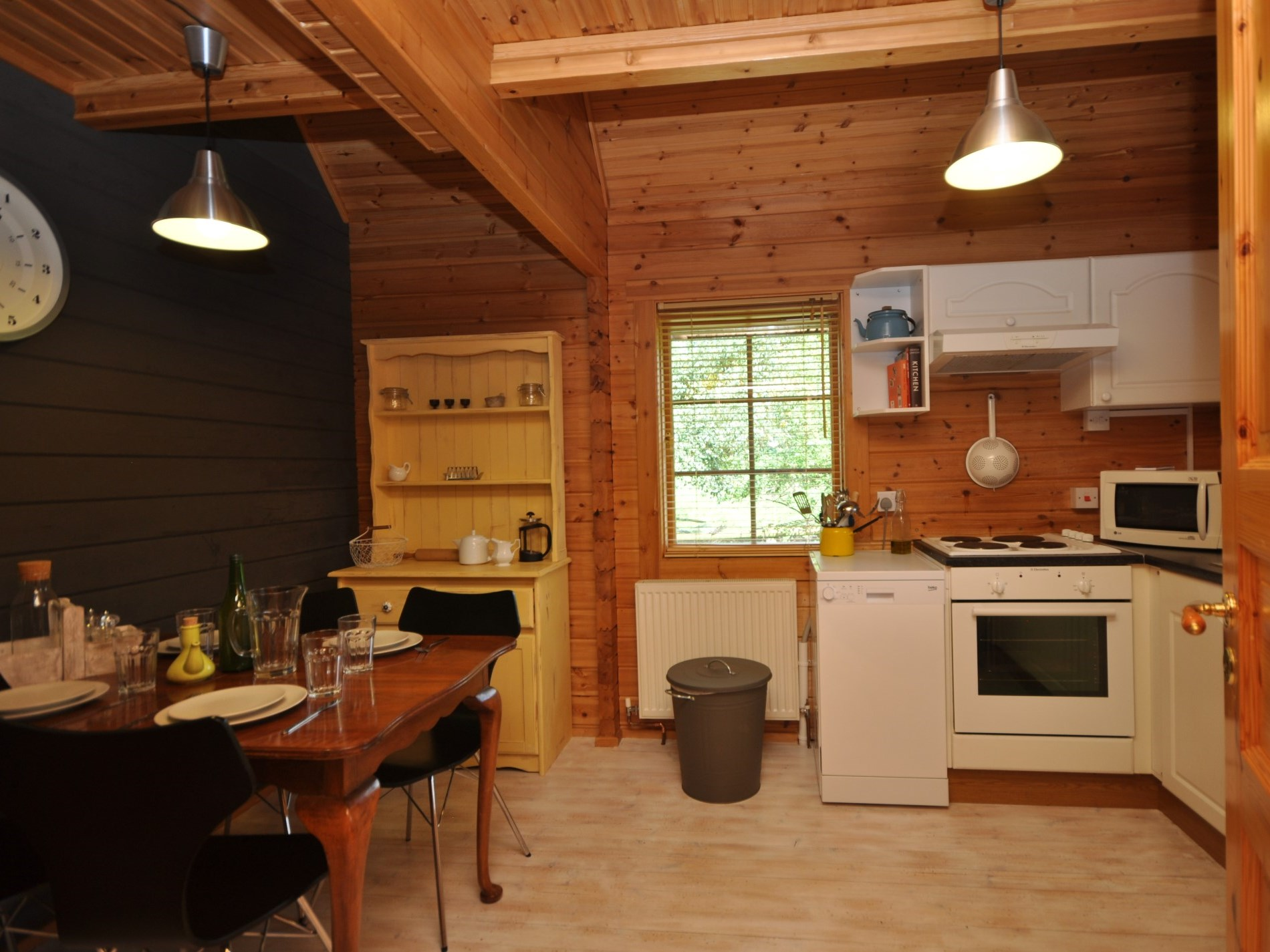 A traditional kitchen with diner