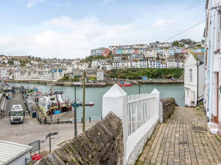 Enjoy the view from of Brixham Harbour from the front door