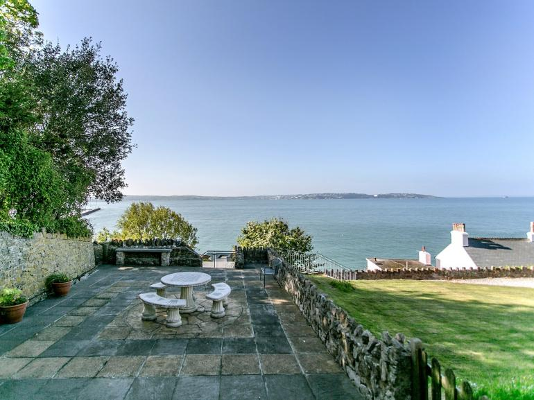 Enjoy panoramic sea views whilst dining al fresco