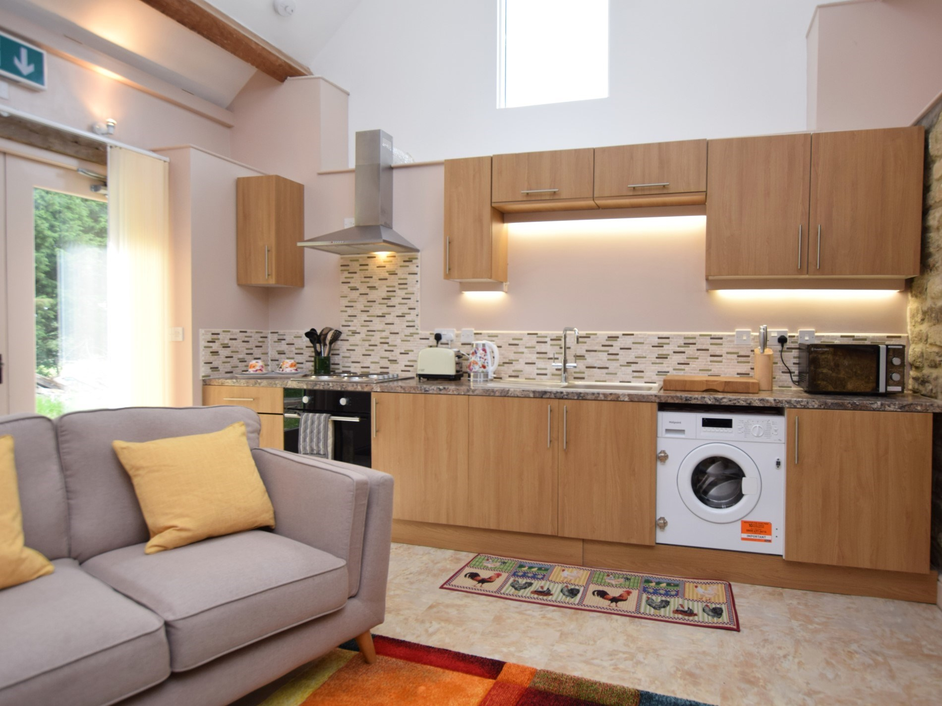 Enjoy cooking in the stylish kitchen area