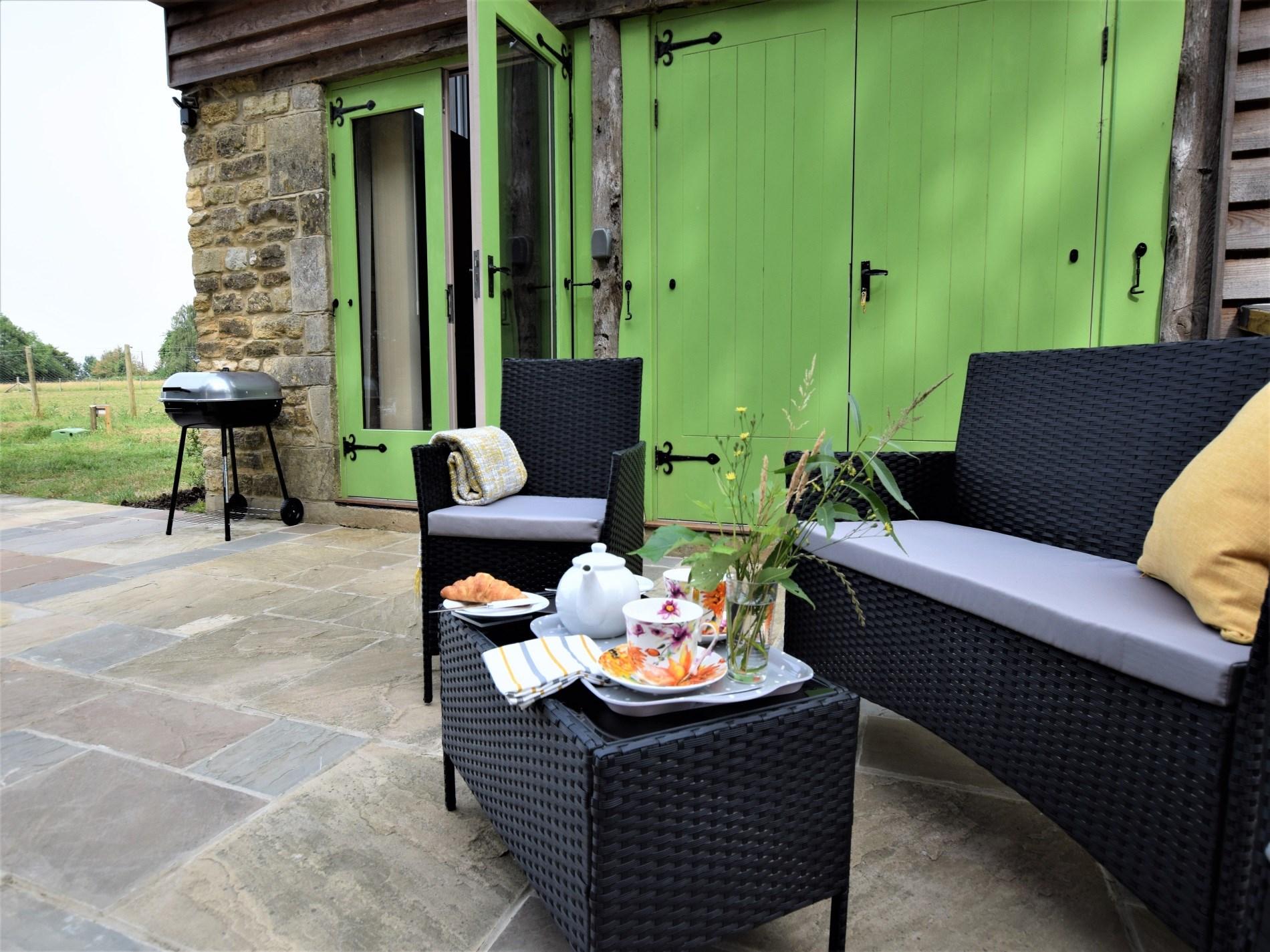 Enjoy a peaceful breakfast in the garden
