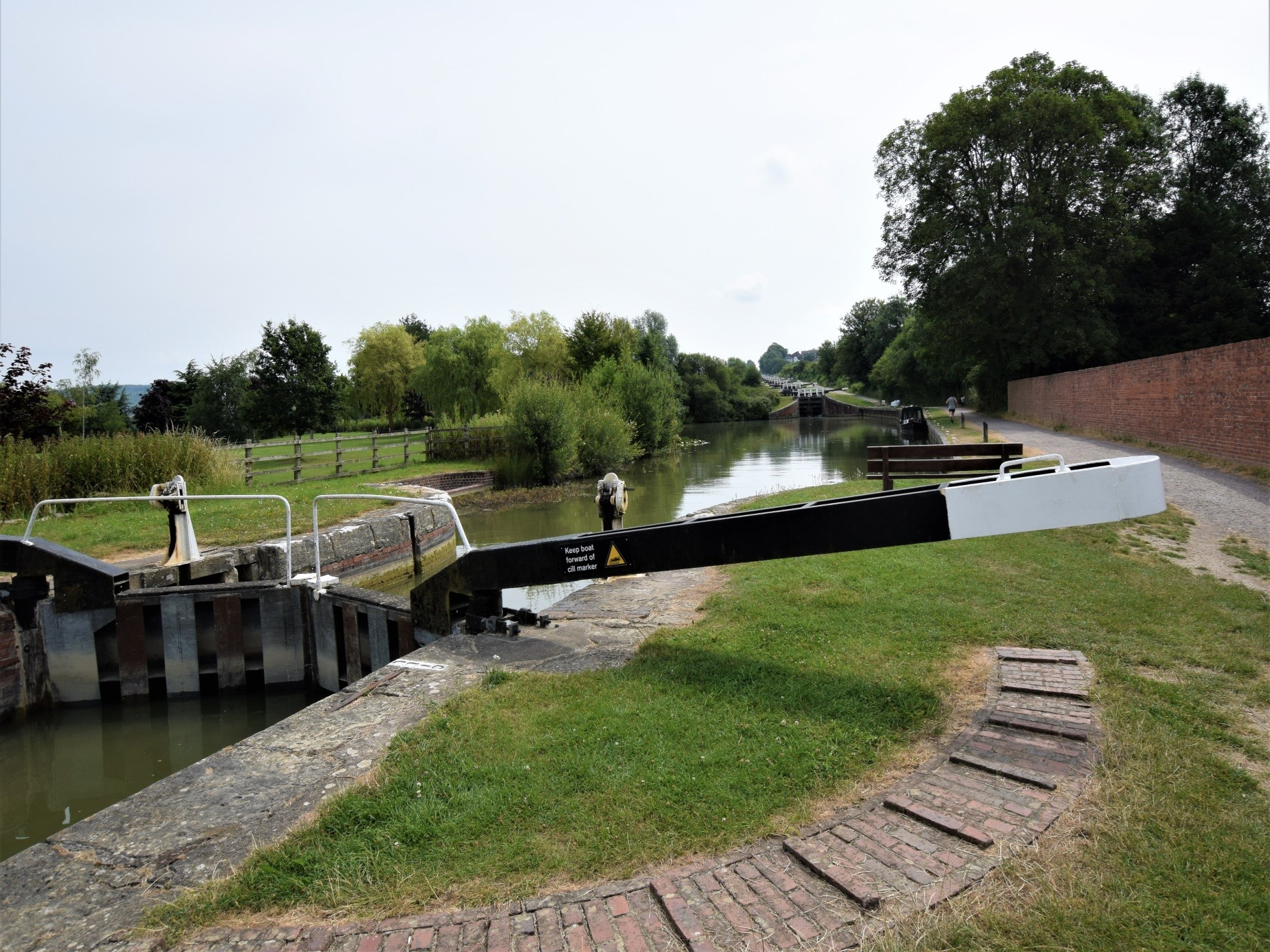Close to the famous Caen Hill flight of locks
