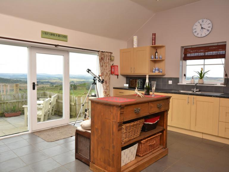 Wonderful spacious kitchen with spectacular views