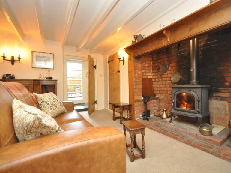 A cosy cottage with wood burner