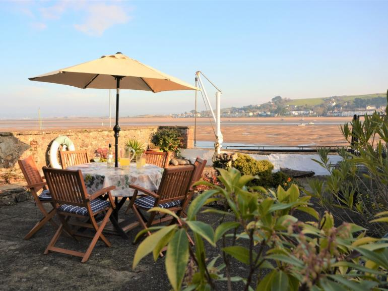 Views over the estuary from the patio area to the back of the property