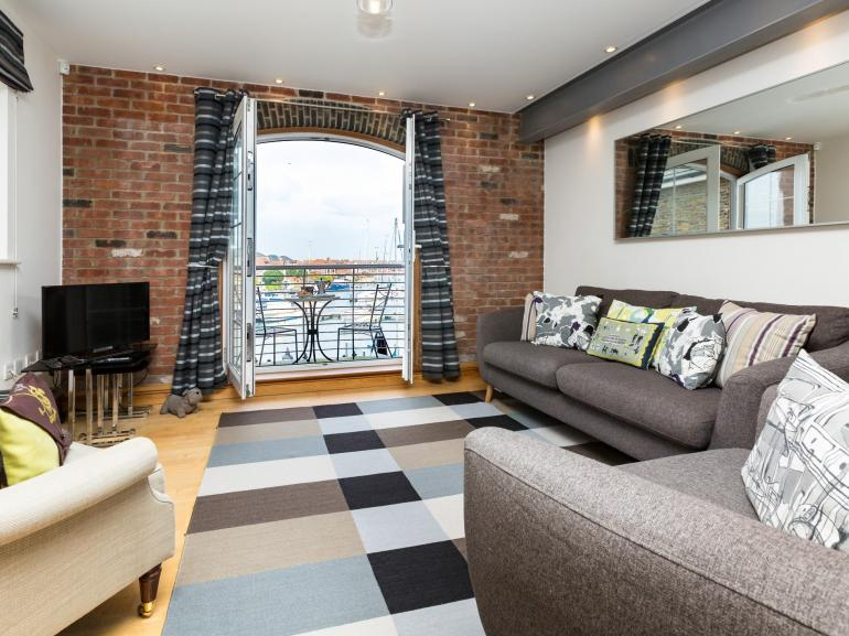 Sink into the sofas and savour the views of Sovereign Harbour