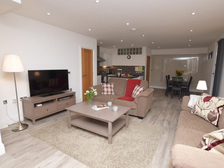 Open plan living in this eco-friendly property