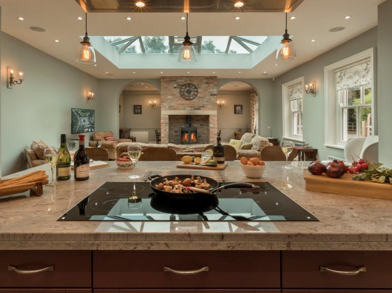 Stunning open plan kitchen/living space - perfect for socialising