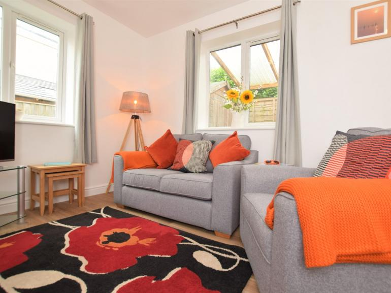 The delightful lounge area, perfect for those cosy nights in