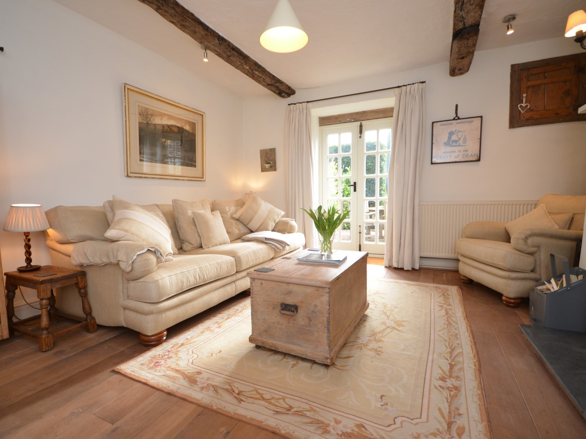 The cottage is a great space for entertaining