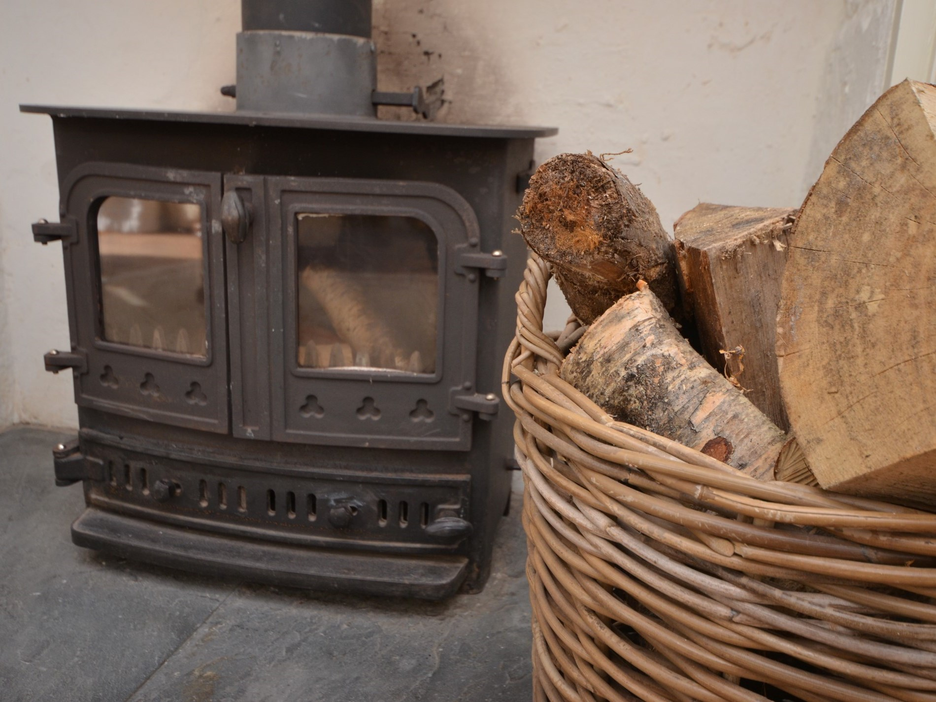 A warming wood burner for those quiet nights in