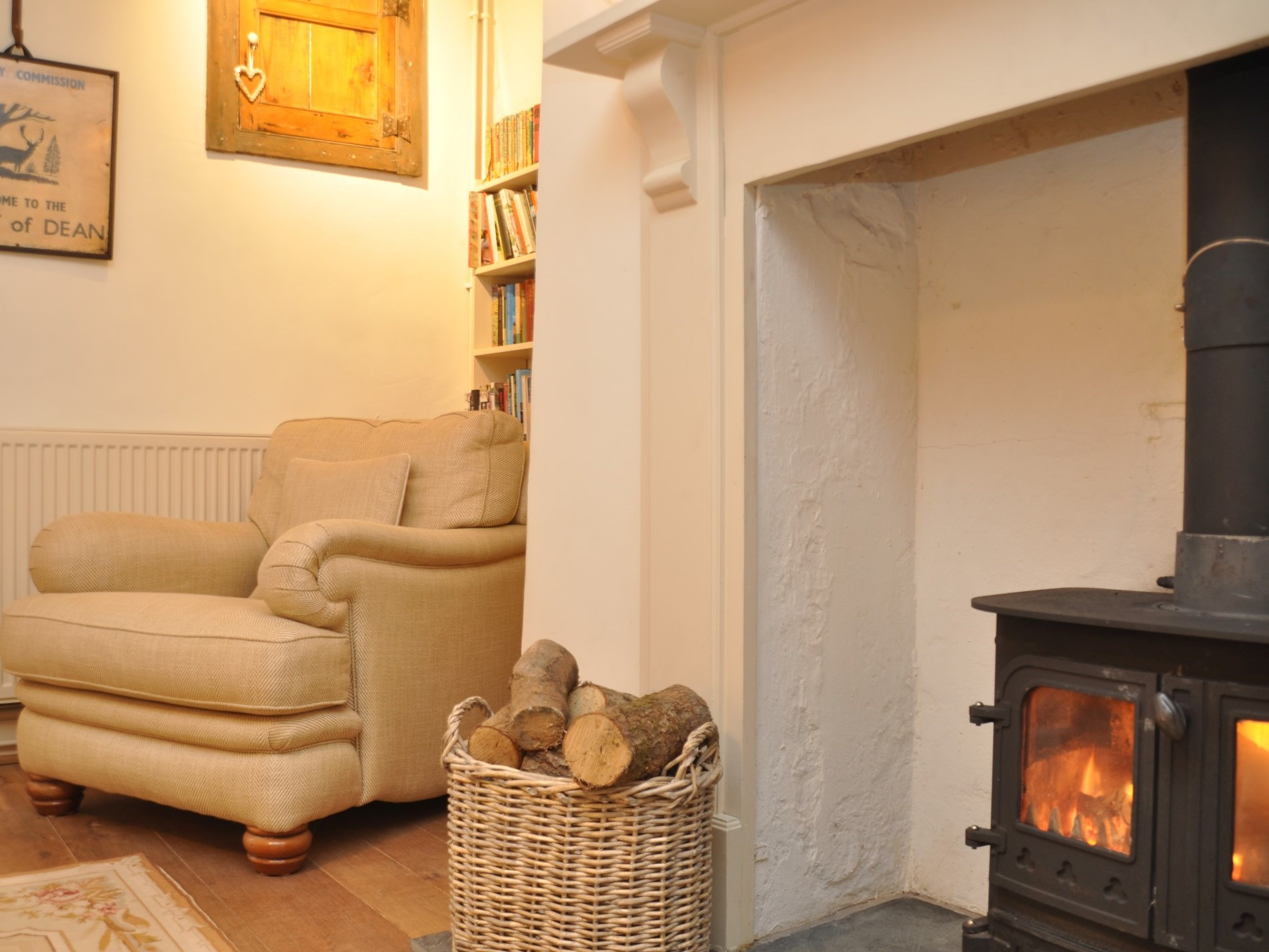 Snuggle up in front of the wood burner