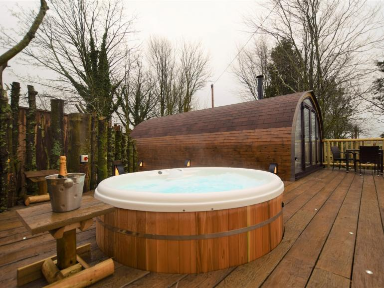Enjoy your very own private hot tub with delightful views towards Dartmoor