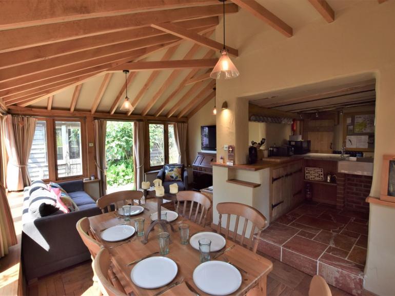 Open-plan lounge kitchen diner