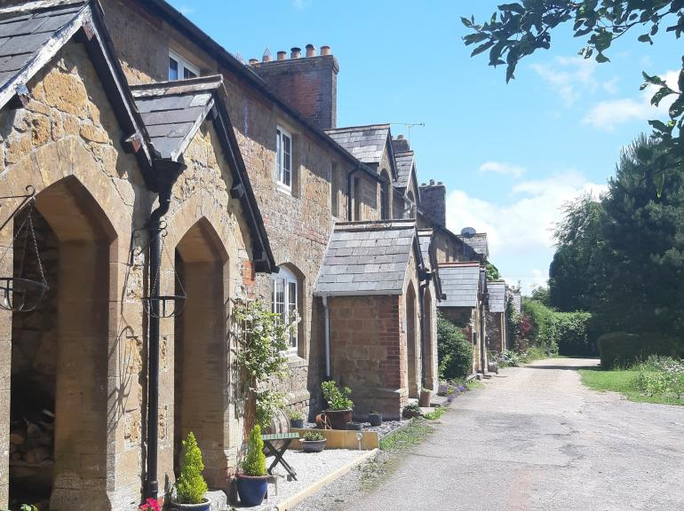 A Delightful row of characterful cottages with countryside views