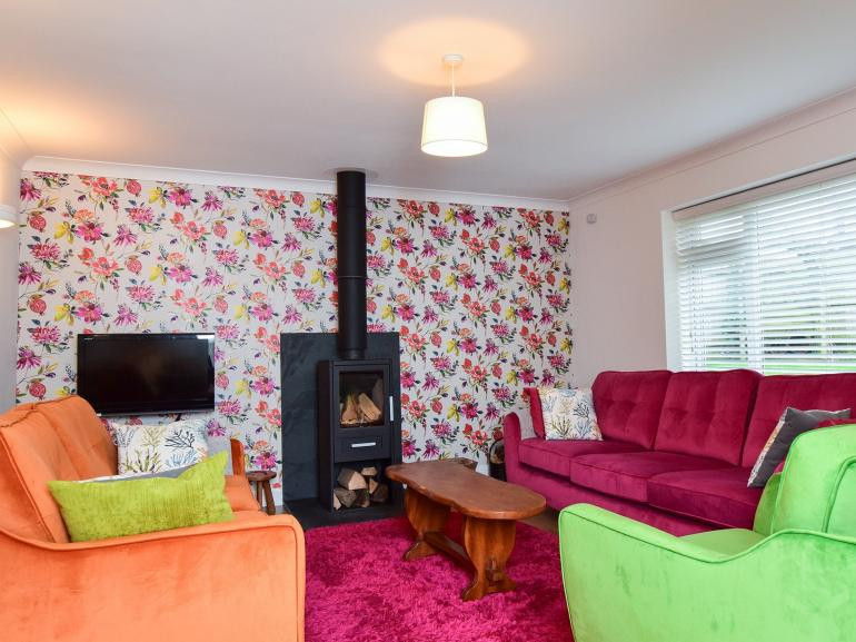 The vibrant lounge