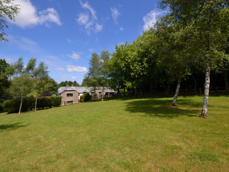Large enclosed paddock and views towards the property