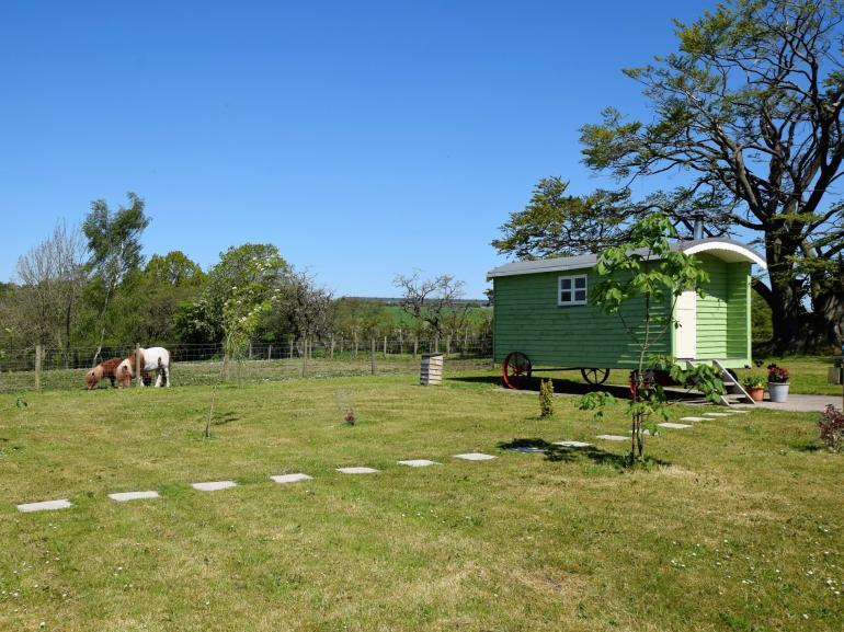 View towards the shepherd's hut