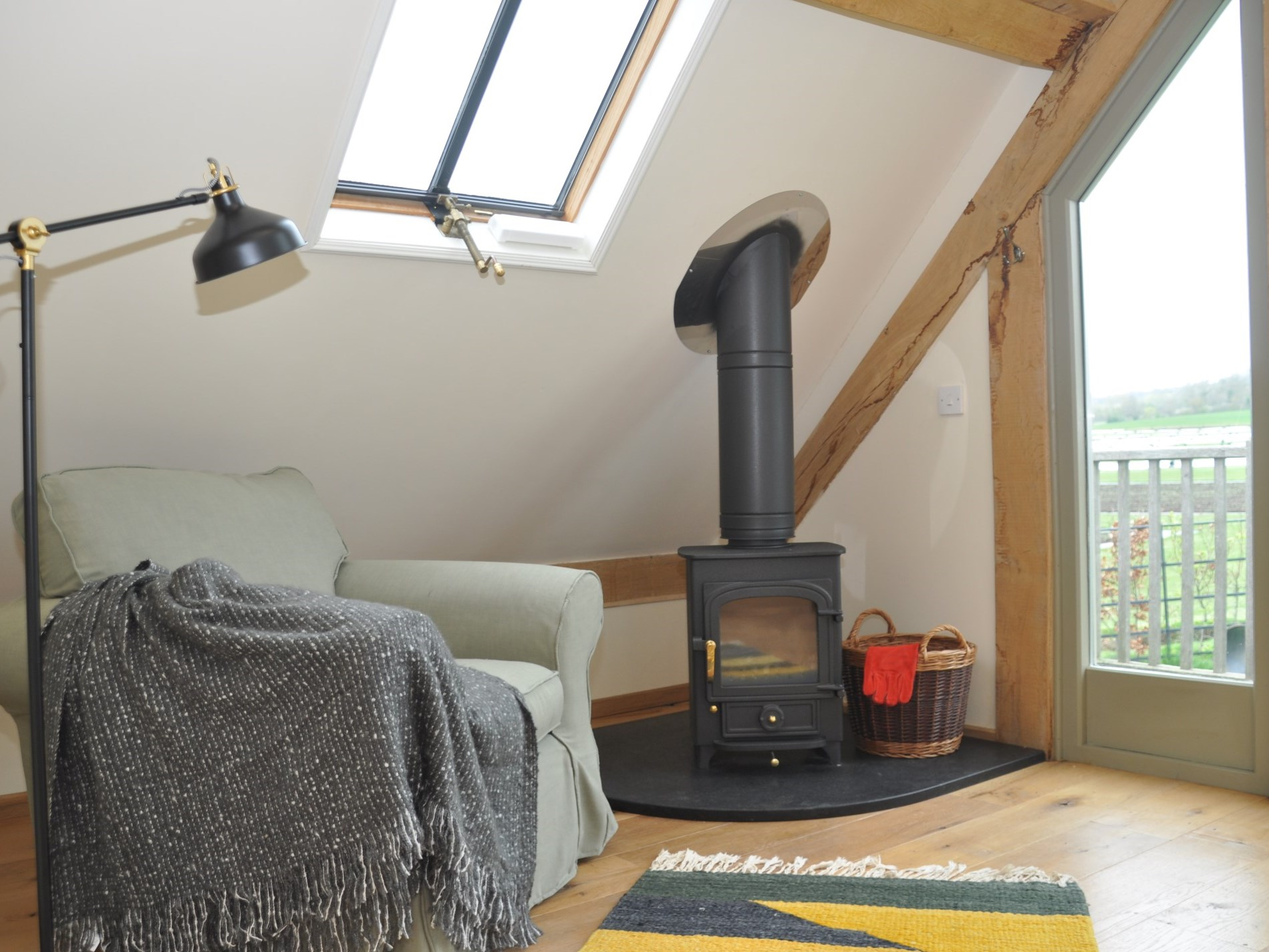 Curl up in front of the wood burner with a good book
