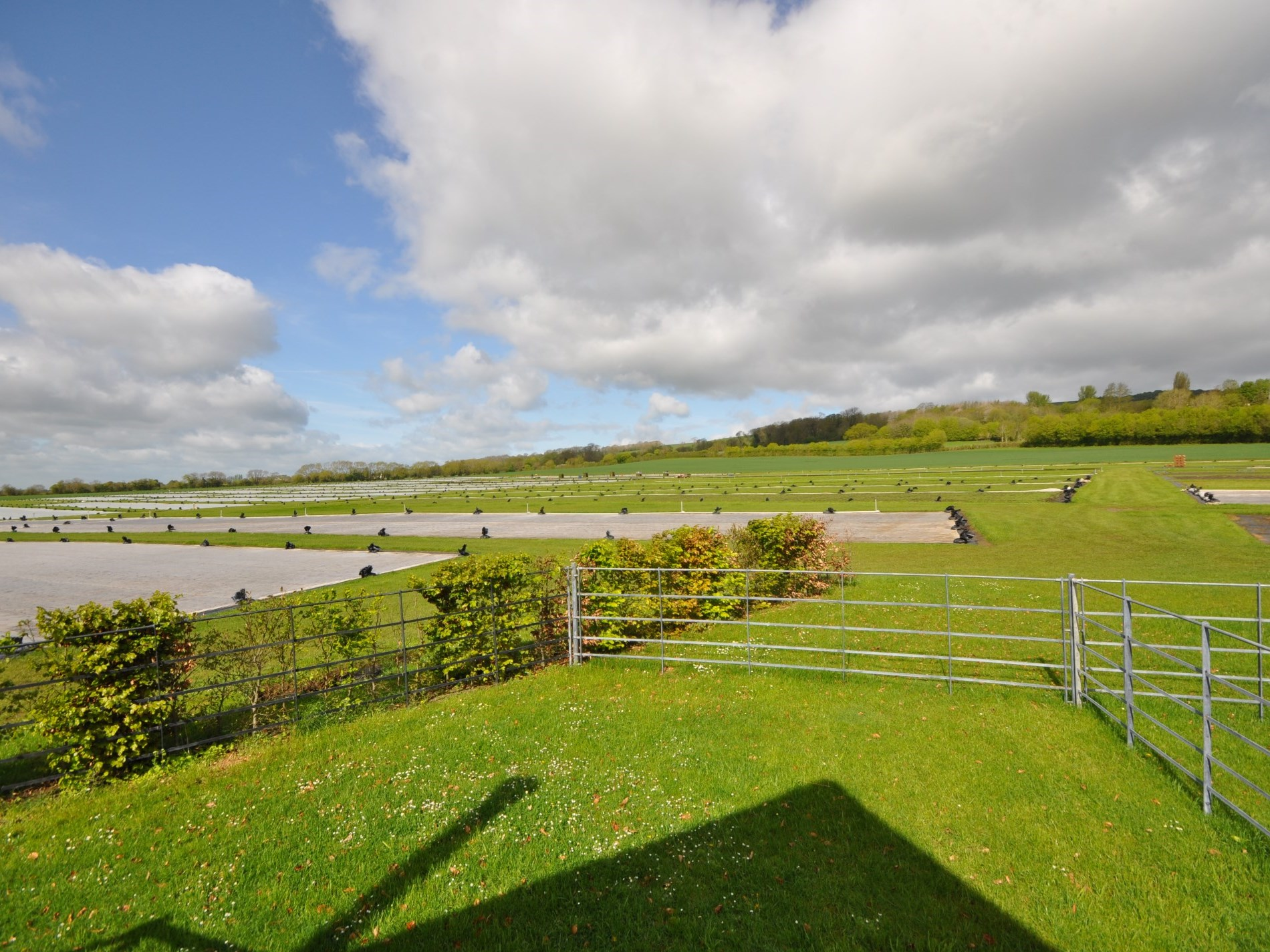 Open aspect onto the hills and neighbouring land