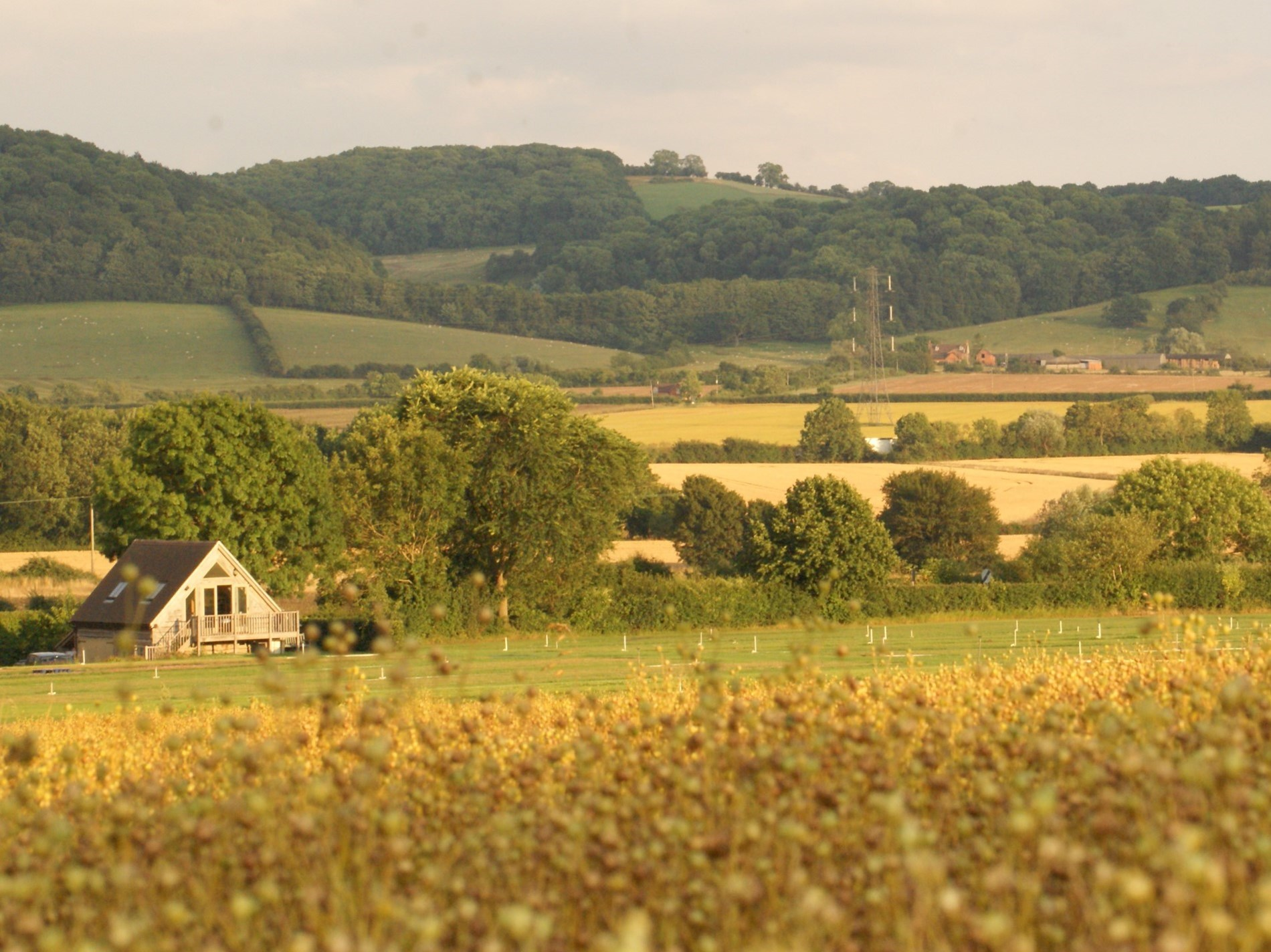 View towards the property from across the fields