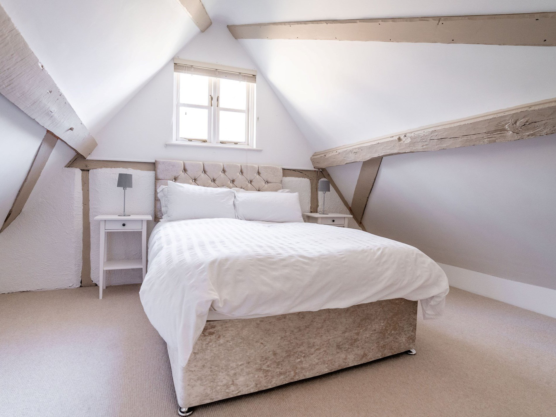 Double bedroom set in the eaves