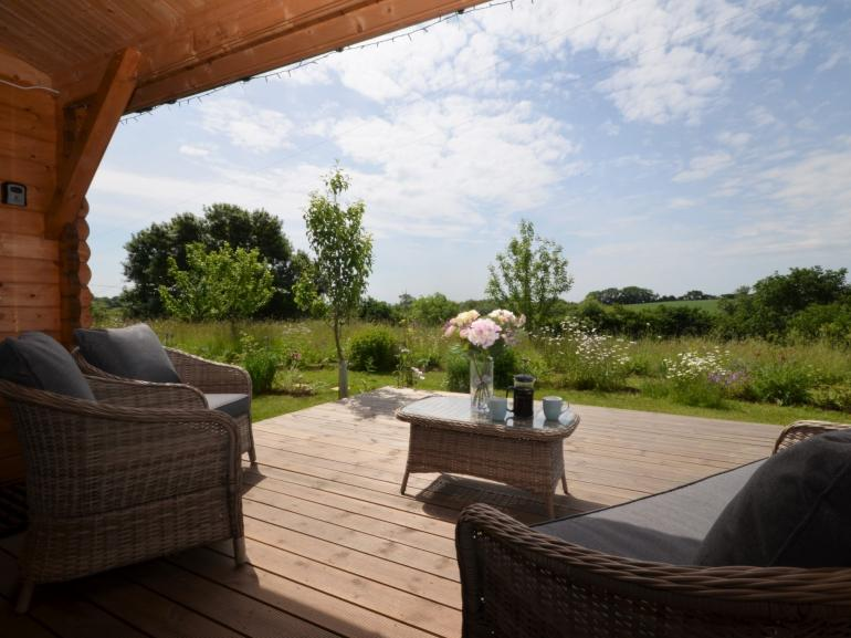The decking area with spectacular views