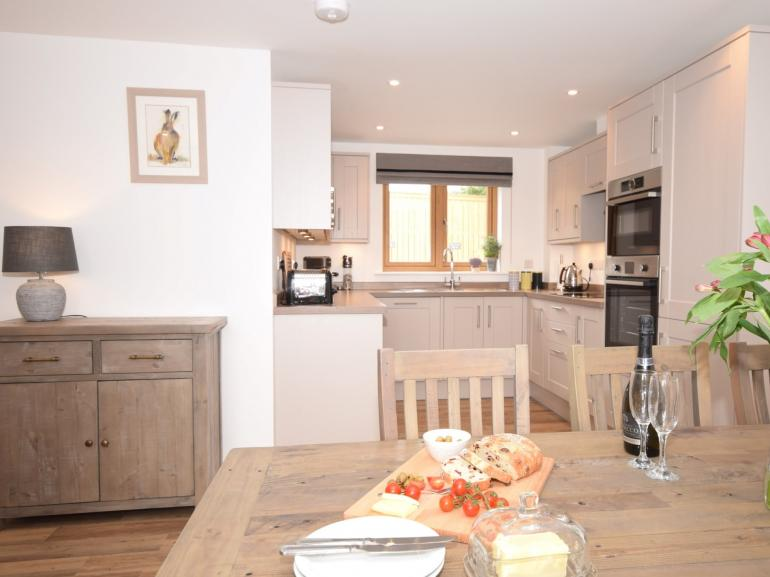 Spacious dining area leading from the kitchen