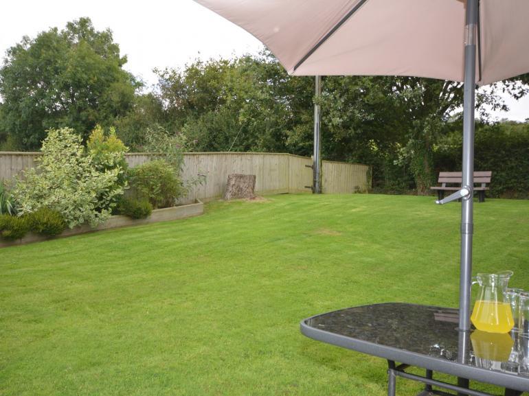 Large private garden for al fresco dining