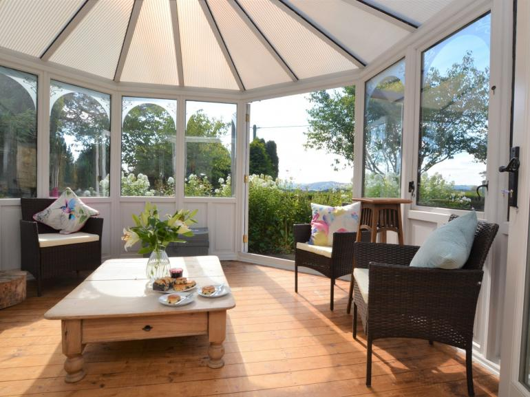 Enjoy the garden views whatever the weather