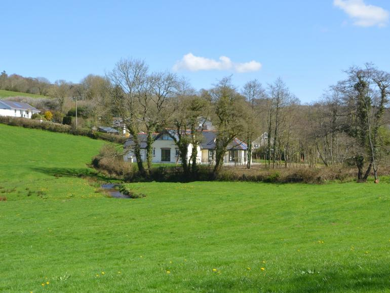 Large detached property built in 2018 looking out over the river at Narberth