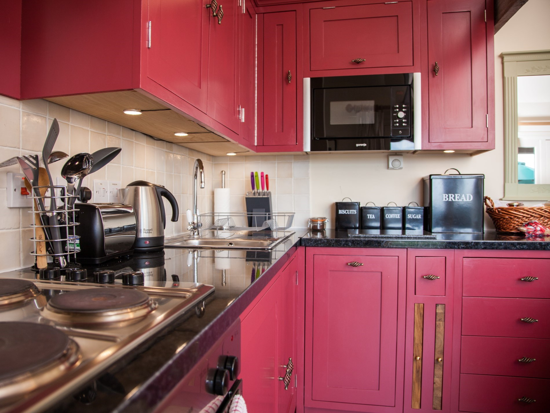 Cook up a storm in the delightful open-plan kitchen