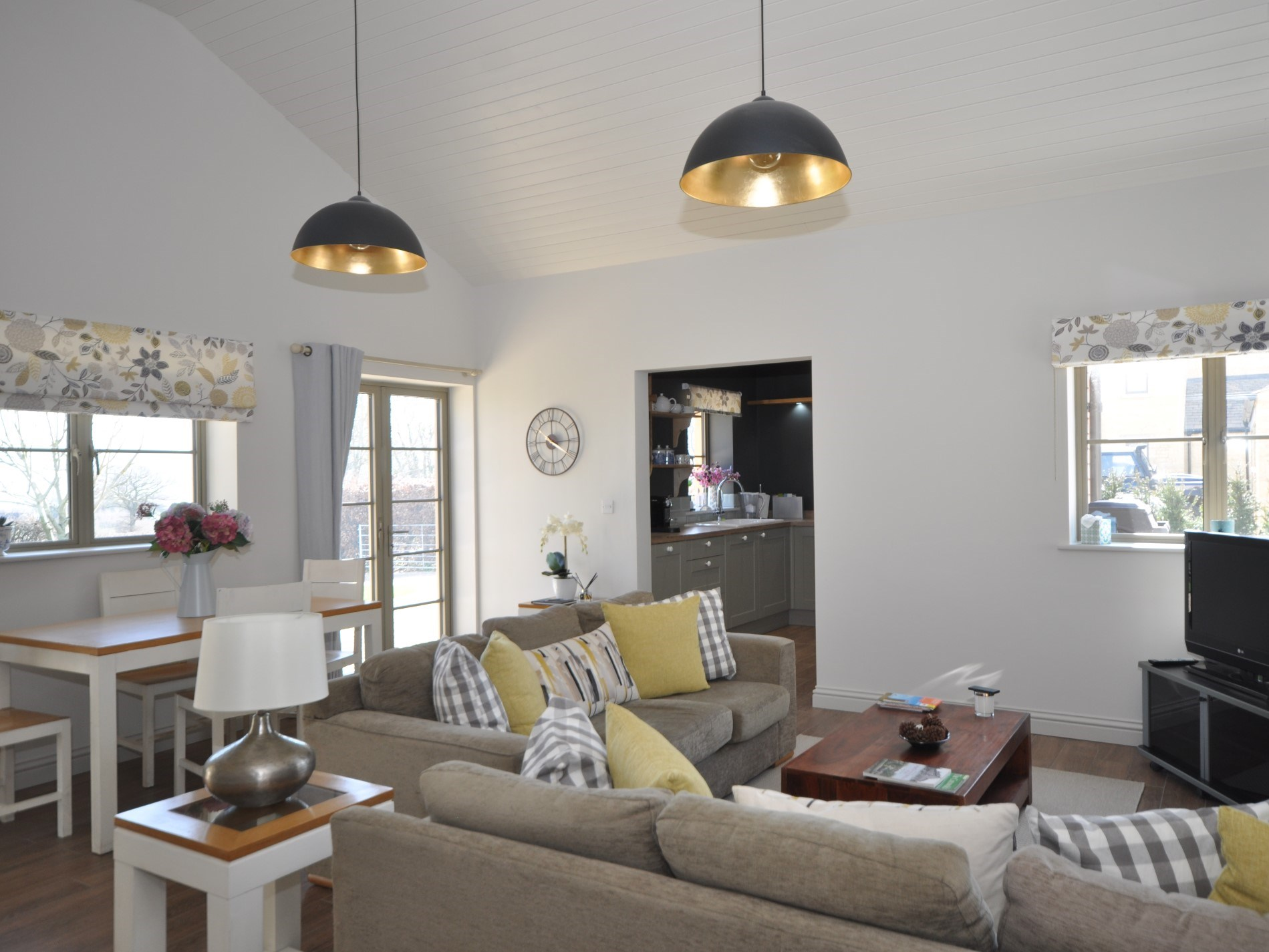 Stylish living within the detached barn