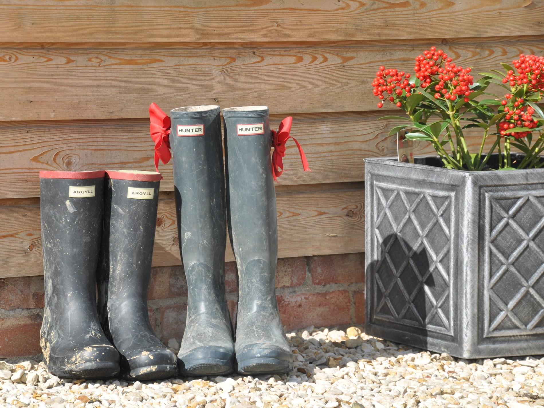 Don't forget your wellies, there's walking from your front door