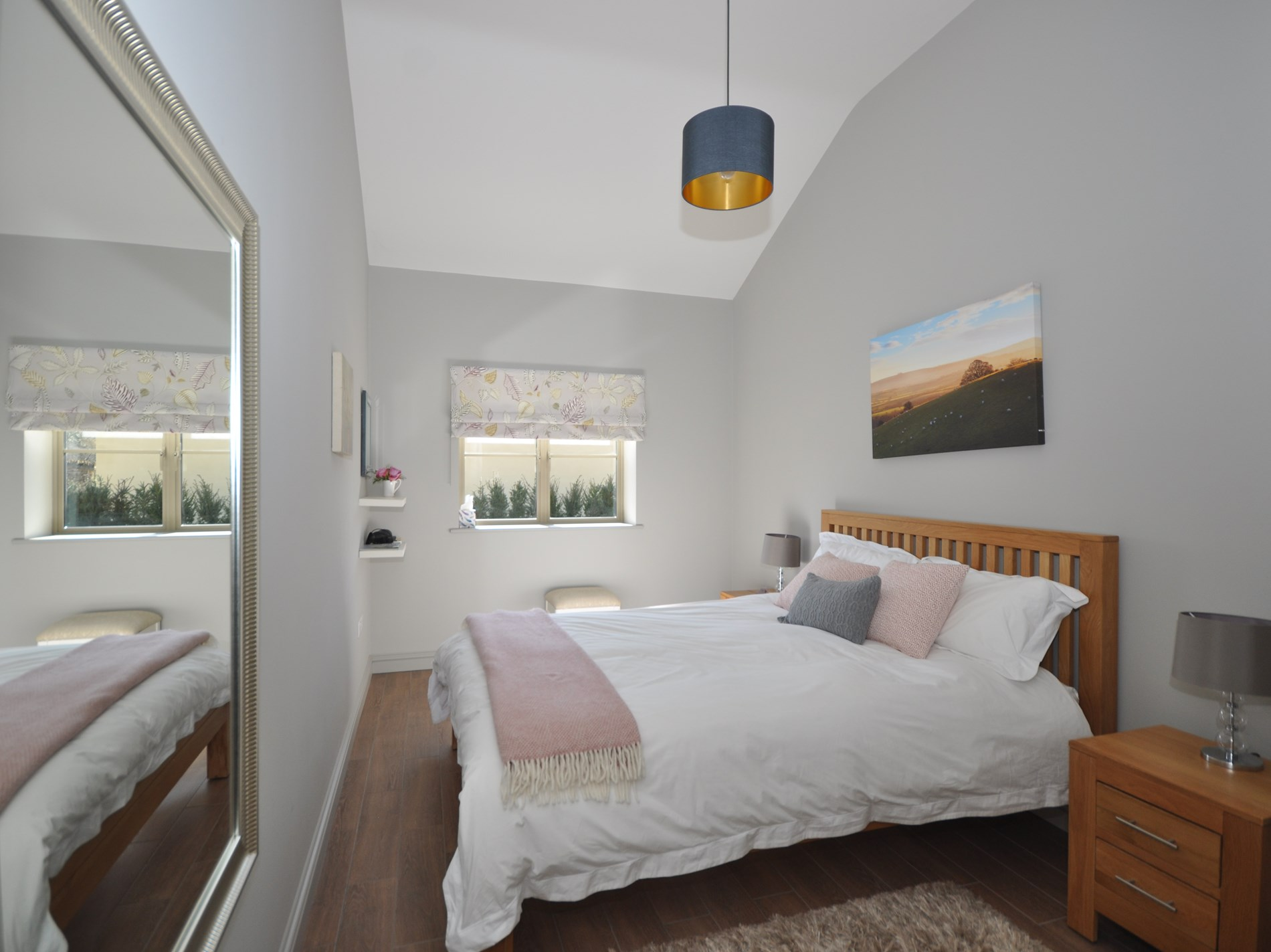 Wake up to bird song in this double bedroom